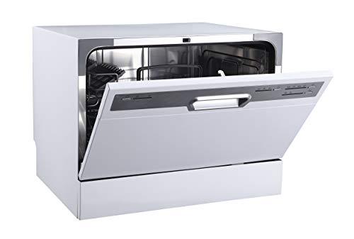 Tischgeschirrspüler PKM GSP 600 silber kleine Spülmaschine 6 Gedecke