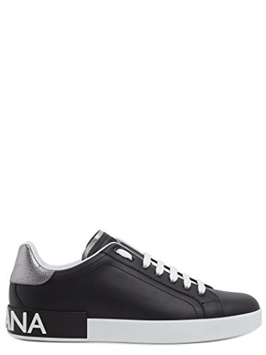 DOLCE E GABBANA Luxury Fashion Herren CS1587AH5278B979 Schwarz Leder Sneakers | Jahreszeit Permanent