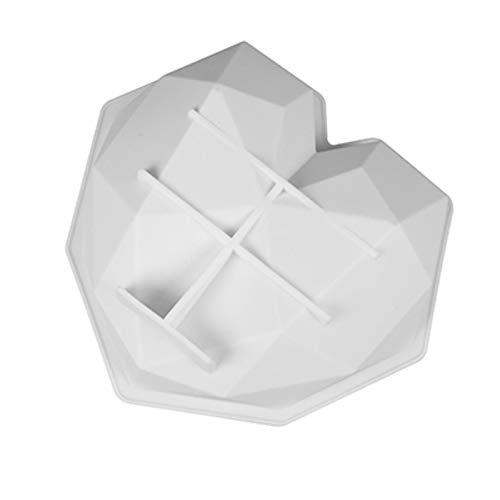 Weixin Silikolove 3D Diamond Love Coeur Shape Silicone Moules de Silicone pour la Cuisson Sponge Mousse de Mousse de Mousse de moules de gâteau Dessert