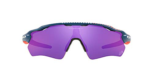 Oakley Men's OO9208 Radar EV Path Rectangular Sunglasses, Poseidon/Prizm Road, 38mm