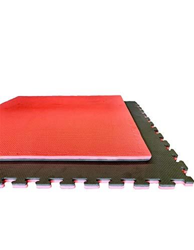Jardin202 Espesor: 25 mm - Tatami Puzzle 1000x1000 | Esterilla Reversible Antideslizante | Suelo para gimnasios, Artes Marciales, Judo | con Bordes