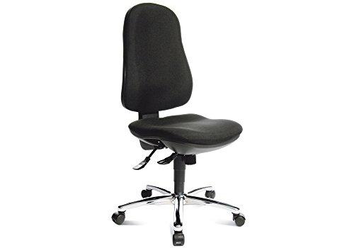lifestyle4living Bürodrehstuhl GS-geprüft schwarz, konturgeformte Rückenlehne mit Lendenwirbelstütze, höhenverstellbar, Bandscheibensitz, Sitzbreite: ca. 45 cm