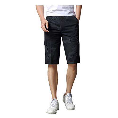 Briskorry - Pantalones cortos para hombre, pantalones cortos de deporte XXXL negro (schwarz 1)