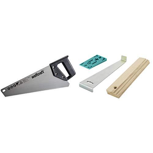 Wolfcraft 4024000 serrucho HCS, longitud de hoja de 350 mm, para placas de yeso, plástico y madera PACK 1 + 6931000 Set de instalación para suelo laminado