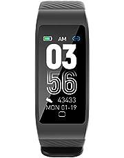 2021年最新スマートバンド スマートウォッチ スマートブレスレット歩数計 心拍計 活動量 消費カロリー計 睡眠管理 4つ文字盤 着信通知 多種類スポーツモード IP68防水 長座注意 GPS運動記録 日本語