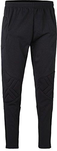 Torwarthose Kai Pro II BLANKO neutral Fußball Torwartbekleidung ohne Logo Label, Größe:M, Farbe:schwarz