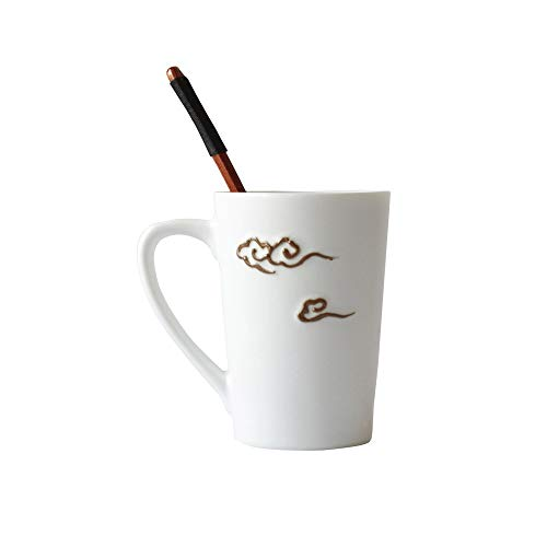 Z-Color Café té con Leche Tazas de cerámica - Copa mañana Mejor Regalo for Bebida de la mañana, y Las Bodas, los cumpleaños, Las Parejas Día del hogar...