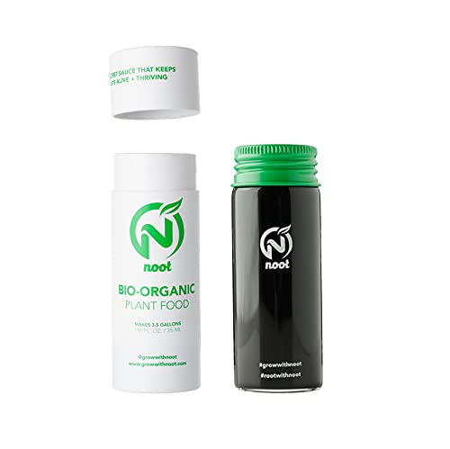 Noot Organic Plant Food Liquid Fertilizer with 18 Root Boosting Strains of Mycorrhizae & Rhizobacteria. Works for All Indoor Houseplants, Fern, Succulent, Aroid, Philodendron, Orchid, Fiddle Leaf Fig, Cacti. Easy to Use. Non-Toxic, Pet Safe, Child Safe. Eco-Friendly Glass Vials Upcycle into Propagation Stations.