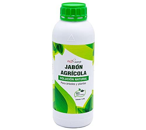 FINCA CASAREJO Jabón agrícola (potásico) de 1 litro - Solución Natural contra los Hongos en Plantas - Limpiador orgánico para árboles y Plantas