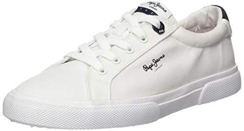 Pepe Jeans Kenton Basic Woman, Zapatillas Mujer, Color Blanco 800, 36 EU