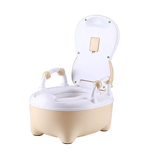 Clean potty Bebé portátil para bebés, diseño de invierno para niños de viajes, fácil de transportar y usar cuando está fuera de viaje o para ir al baño, canción beige (Color: Azul) ( Color : Beige )
