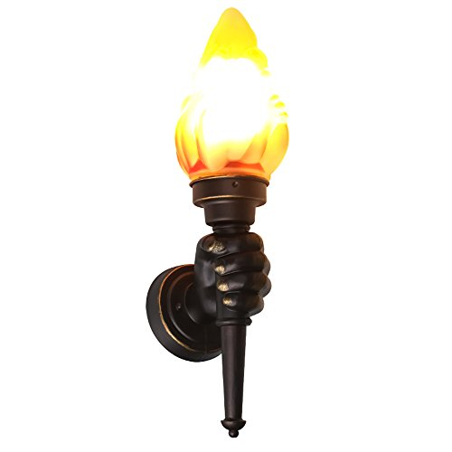 Neilyn Vintage Wandlampe Kreative LED Flamme Lampe Innenbeleuchtung Feuer Brennen Effekt Dekoration Lichter Wand Fackel Luminary Bar Restaurants Coffee Shop Club Dekoration (Color : Left hand)
