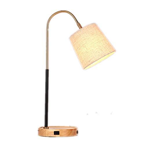 Lámpara de mesa Lámpara de mesita de noche moderna, lámpara de mesa LED para el cuidado de los ojos, luz de noche de lectura con pantalla de tela de lino para sala de estar, dormitorio familiar, junto