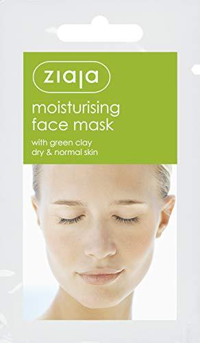 Ziaja Mascarilla Facial Hidratante Con Arcilla Verde, Blanca, 7 Mililitro