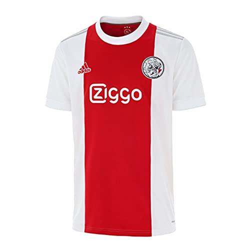 adidas AJAX H JSY Y T-Shirt, White/Team Colleg Red, 1516 Boys