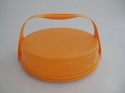 TUPPERWARE Junge Welle Kuchenform rund orange Torty Kuchen + Tragegriff Griff