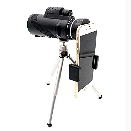 HCFSUK Telescopio Compacto monocular BAK4: telescopio monocular con Zoom de Alta Potencia, Lente con Zoom de Aumento de 8X Telescopio de Alta definición, con Soporte para teléfono Inteligente y trí