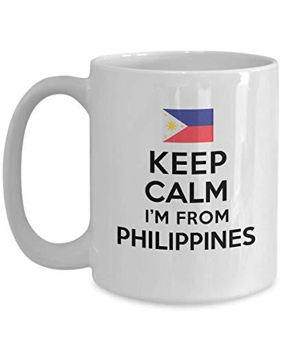 Mug For Filipinos Keep Calm I'm From Philippines Best Perfect Cool Mug Ideas Coffee Mug Tea Cup Nationality Pride Men Women