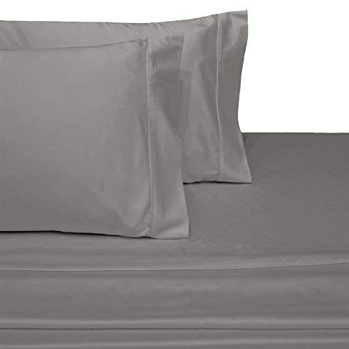Wamsutta Xuvet 100% Egyptian Cotton Sheets, Silver King Sheets Set, 625 Thread Count Long Staple Cotton, Sateen Weave for Soft and Silky Feel, Fits Mattress Upto 18