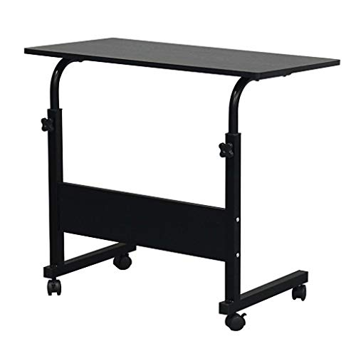 LICHUAN Side Table Side table Removable 15MM Chipboard Steel Side Table with Baffle Black Side cabinet End Table Easy Assembly (Color : Black)