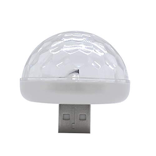 KingbeefLIU Luz de Noche Mini Lindo Seta USB LED Música Control de Sonido Luz de Noche Etapa Lámpara Blanco