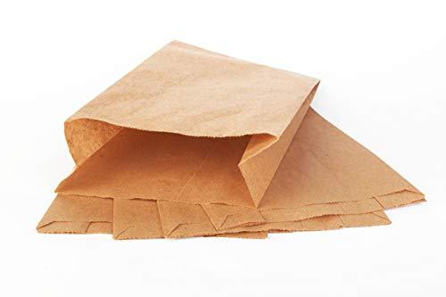 1000 Stück Brotbeutel Brottüten Bäckerbeutel Faltenbeutel Papiertüten Brötchentuete-n Braun Bäckerfaltenbeutel Flachbeutel Bäcker-Tüte Unbedruckt (15x6x25cm)