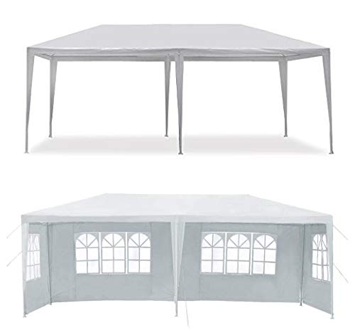 MCombo Canopy Party outdoor Gazebo Wedding Tent Removable Walls, White, 10' x 20'