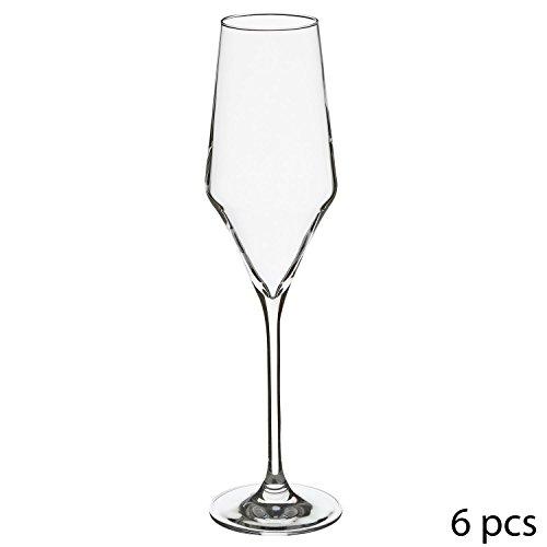 Secret de gourmet 6 Flûtes à Champagne Clarillo - 22 cl - Cristallin