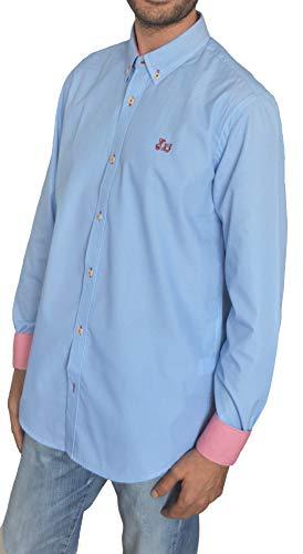 Ridebike Camisa Azul con Fino Estampado Vespa | Diseño...
