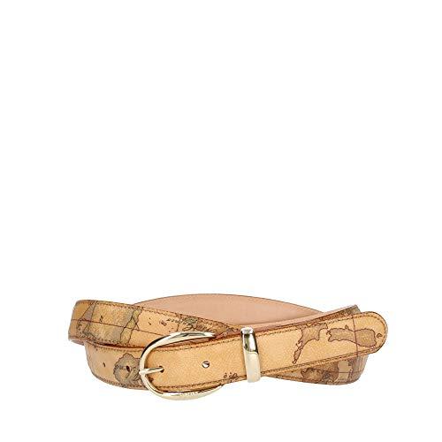 Alviero Martini 1^ Classe Cintura Donna cm 2,5   cm 115 Geo   Fibbia oro (Beige)