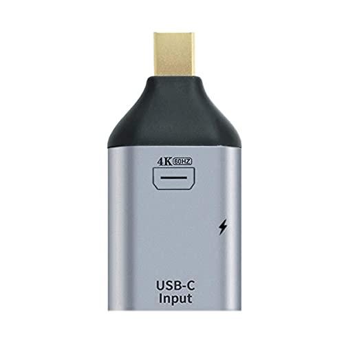 NFHK USB-C Type C Female Source to Mini Displayport DP Sink HDTV & PD Power Adapter 4K 60hz 1080p for Phone & Laptop