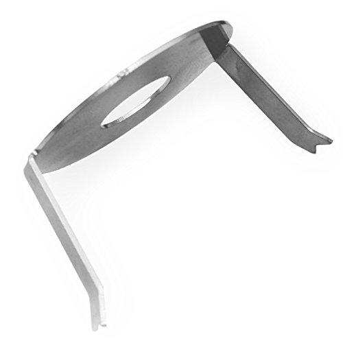 Metzler-Trade® spanveer voor inbouwdoos in het midden - accessoires/reserveonderdeel voor de inbouw van deurbellen - geschikt voor knop-diameter van Ø 19 mm/Ø 25 mm Ø 25 mm