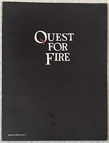 QUEST FOR FIRE BLACK MOVIE PROGRAM- 9x12 - SHIPS FLAT - 1982 - Everett McGill - Rae Dawn Chong - Ron Perlman - Nameer El-Kadi