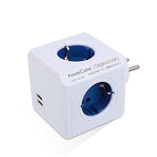 Haihuic Cube Steckdosenleiste mit Steckdose und USB-Anschlüsse, USB-Wandstecker