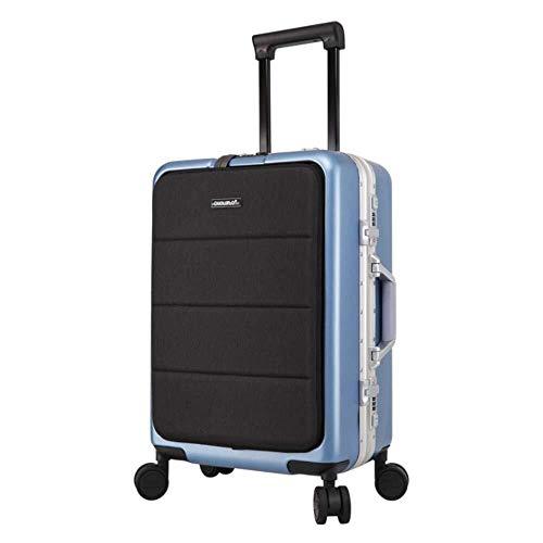 Mochila multiusos Viajes maleta de equipaje de 20 pulgadas de la corteza, portátil ligero de equipaje vertical maleta con un TSA Trolley caja de la cerradura 360 ° multi-direccional de ruedas Mute Ade