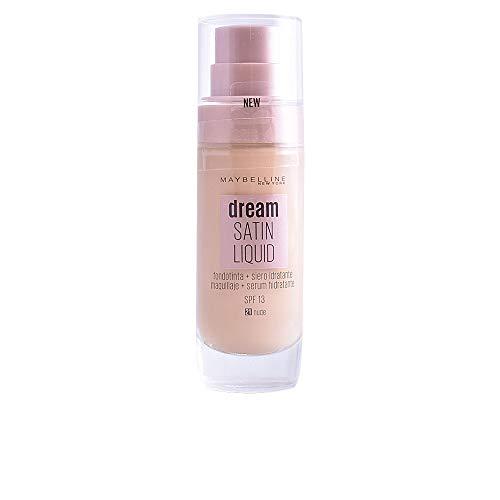 Maybelline New York Dream Satin Liquid, Base de Maquillaje Líquida con Sérum Hidratante, Tono 021 Nude
