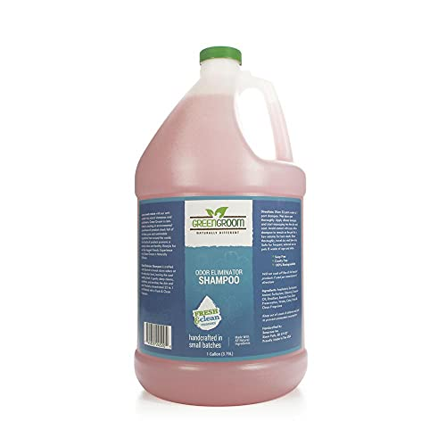 Green Groom Odor Eliminator Dog Shampoo, 1 Gallon - Crafted with Odortrol, All Natural Ingredients, Antioxidant Rich, Eliminates Smelly Pet Odors, Powerful Deodorizing Formula, Professional Grade
