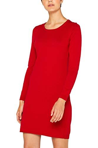 edc by ESPRIT Damen 089Cc1E001 Kleid, Rot (Dark Red 610), Medium (Herstellergröße: M)