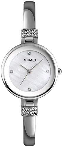 JSL Reloj de aleación de diamantes para señoras simple y elegante reloj pequeño exquisito y hermoso-Rosegold-Plata