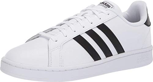 adidas Men's Grand Court, Core Black/Cloud White, 10.5 M US