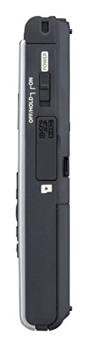 OM Digital Solutions Voice Recorder WS-852 with 4GB, Automatic Mic Adjustment, Simple Mode, SILVER (V415121SU000)