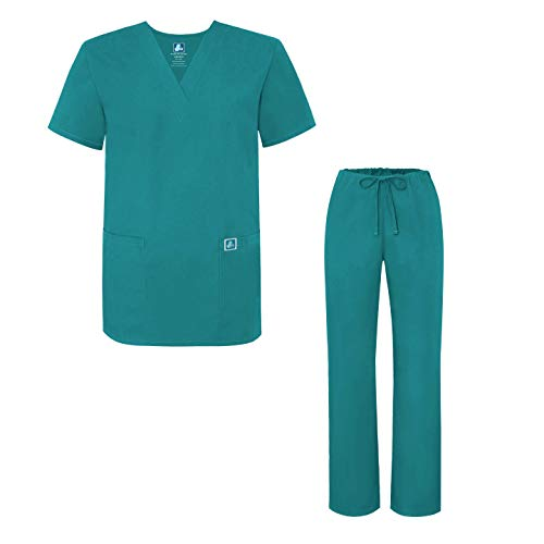 Adar Uniforms Womens 701TBLM Medical Scrubs, Blau (Teal Blue), Medium-US