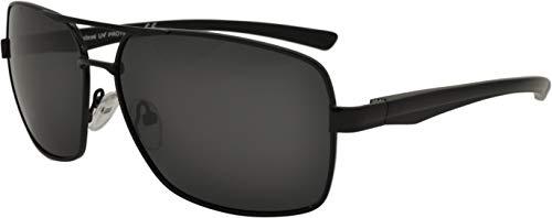 SQUAD Gafas de sol Polarizado de aluminio para adultos hombres y mujeres, modelo casual clásico cuadrado, protección 100% UV402, Doble puente Metálico