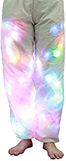 ZOZOE Women/Men LED Light Pants Halloween Colorful Luminous White Pants Nightclub Party Casual Trousers Bar Dance Props Festival Props Pants Clothes