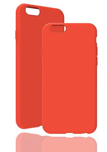inv. [ Kompatibel mit Apple iPhone 6 / 6s, in Orange ] Originale Silikonhülle - Hochwertig, ideale Verarbeitung - Schlichtes Silicone Hülle