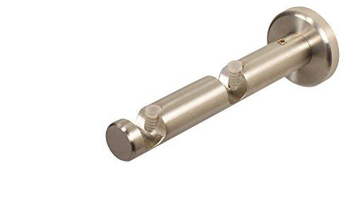 Edelstahlträger 2-läufig offen für 12 mm Gardinenstangen