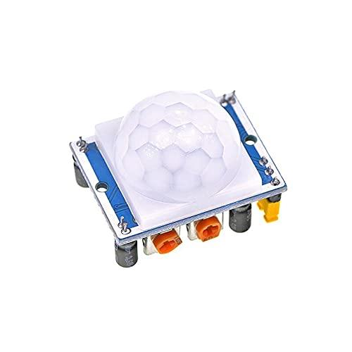 IGOSAIT HC-SR501 HC-SR505 AM312 SR602 Ajustar IR piroeléctrico infrarrojo Mini módulo PIR Sensor de movimiento Sensor Soporte de módulo compatible con compatible con Arduino