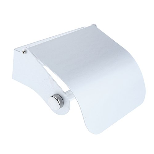 Anti-Corrosion Toilet Tissue Roll Holder Paper Towel Rack Shelf with Screw Accessories Set for Bathroom Commode Chair