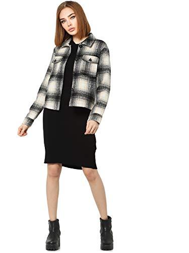ONLY Damen ONLLOU Short Check Jacket CC OTW Jacke, Pumice Stone, M