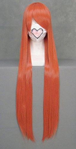 JapanAttitude Perruque Longue Orange 100cm, Cosplay Bleach Horo, Shana